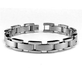 Men S Stainless Steel High Polish Interlock Link Bracelet 9 View Images