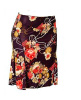 Black Floral Print Pencil Mini Skirt