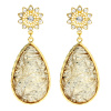Amrita Singh Cassia Spring Crystal Gold Teardrop Earrings
