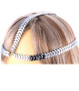 Silver Leaf Motif Metal Chain Crown Headpiece