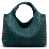 Green  Woven Hobo Tote Shoulder Bag