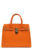 Orange Togo Padlock Top Handle Satchel Handbag
