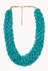Teal Braided Bead Necklace