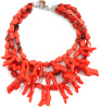 Orange Coral Reef branch layered Necklace