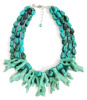 Turquoise Coral Reef branch layered Necklace