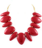 Red Coral Tribal Bead Necklace