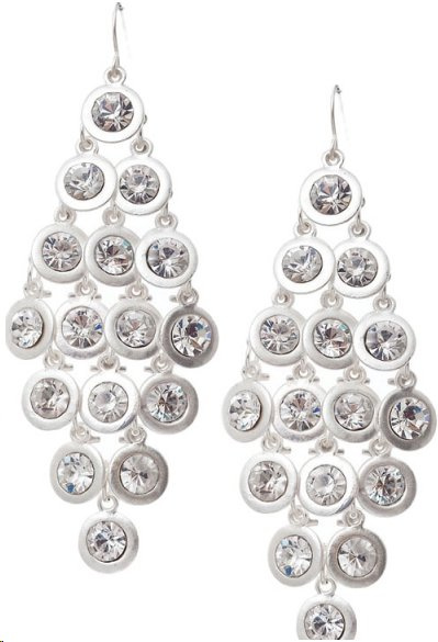 Rhinestone Crystal Cascade Tier Drop Chandelier Earrings