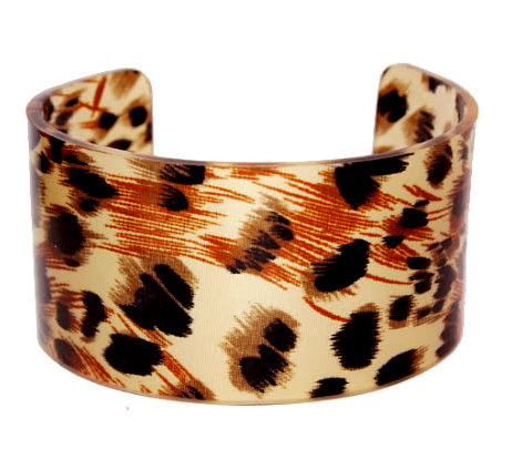 Leopard Animal Print Multicolor Cuff Bracelet Set