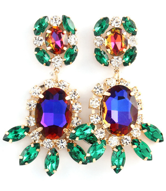 Emerald Crystal Shourouk Earrings
