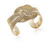 Gold Rhinestone Knot Cuff Bangle Bracelet